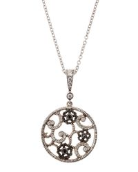 Penny Preville - Metallic Diamond Lace Pendant Necklace - Lyst