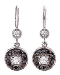 Penny Preville | Metallic Pave Black Diamond Round Earrings | Lyst