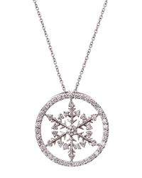Roberto Coin | White Diamond Pave Snowflake Pendant Necklace | Lyst