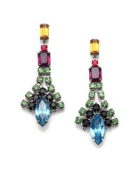 Tom Binns | Multicolor Crystal Drop Earrings | Lyst
