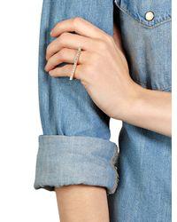 Swarovski - Metallic Crystal Channel Double Finger Ring - Lyst