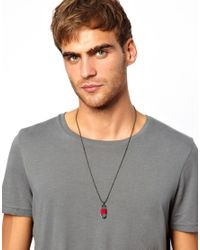 Dogeared - Red Classics 77 Skateboard Necklace for Men - Lyst