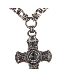 Emilio Pucci - Metallic Embellished Crucifix Necklace - Lyst