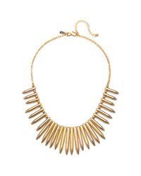 Kenneth Jay Lane | Metallic Gold Spike Statement Necklace | Lyst