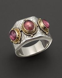 Konstantino | Metallic Pink Tourmaline Three Stone Ring | Lyst