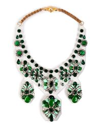 Shourouk | Green Extra Large 'primavera' Necklace | Lyst