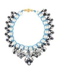 Shourouk - Blue Marisa Montana Embellished Necklace - Lyst