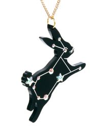 Tatty Devine   Black Sky Rabbit Necklace   Lyst