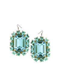Tatty Devine | Green Jewel Paste Earrings | Lyst