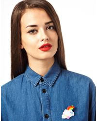 Tatty Devine - Red Cloud Brooch - Lyst