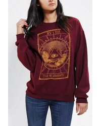 Urban Outfitters - Red The Elements Pullover Sweatshirt - Lyst