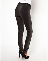 ASOS - Natural 2nd Day Sally Skinny Jeans in Seal Print - Lyst