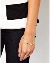 ASOS - Metallic Bar Bracelet - Lyst