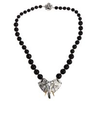 ASOS - Black Bill Skinner Big Elephant Necklace - Lyst