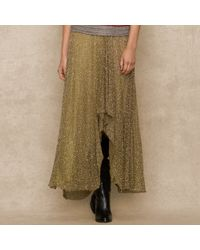 Ralph Lauren Blue Label - Metallic Highlow Sequined Skirt - Lyst