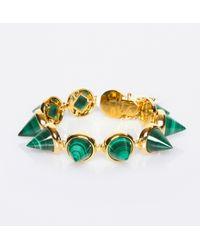 Eddie Borgo - Green Gemstone Cone Bracelet - Lyst