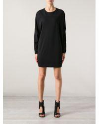 Giuliano Fujiwara - Black Sweater Dress - Lyst