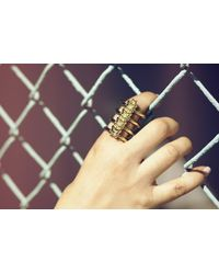 Jennifer Fisher - Metallic Vertebrae Ring - Lyst