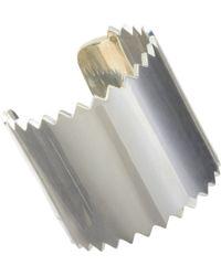 Juan Carlos Obando - Metallic Silver Tall Saw Blade Cuff - Lyst