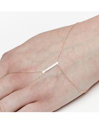Loren Stewart - Yellow Diamond Bar Hand Bracelet - Lyst