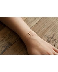 Loren Stewart | Metallic Diamond Bar Chain Bracelet | Lyst