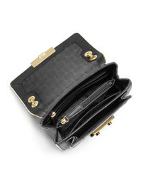 MICHAEL Michael Kors | Black Small Sloan Shoulder Flap Bag | Lyst