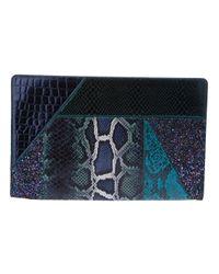Stella McCartney | Blue Faux Leather Waverley Patchwork Clutch | Lyst