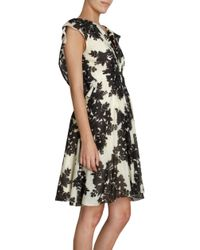 Thakoon Multicolor Floral Print Butterfly Sleeve Dress