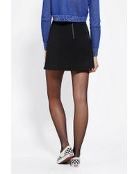 Urban Outfitters - Black Cooperative Pebbled A-line Skirt - Lyst