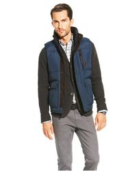 Vince Camuto Puffer Vest In Blue For Men Lyst