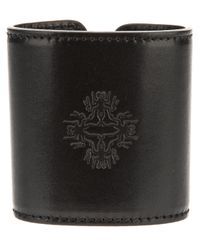 Ann Demeulemeester | Black Leather Cuff | Lyst