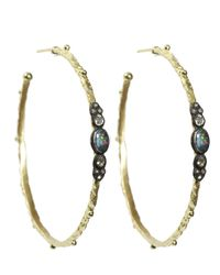 Armenta - Metallic Sculpted Hoops - Lyst