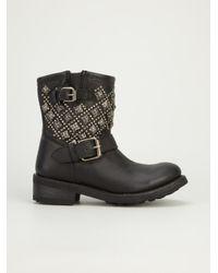 Ash - Black Tsar Biker Boot - Lyst