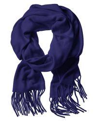 Banana Republic - Solid Fringe Scarf Comet Blue for Men - Lyst