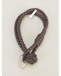 Bottega Veneta - Brown Woven Bracelet for Men - Lyst
