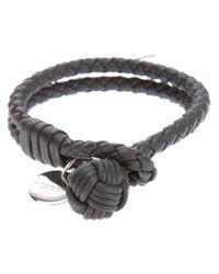 Bottega Veneta | Gray Intrecciato Bracelet | Lyst