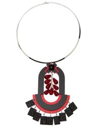Holly Fulton - Pink Geometric Choker Necklace - Lyst