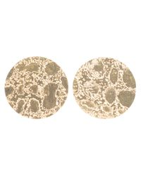 Sara Gunn - Metallic Etched Stud Earrings - Lyst
