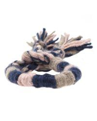 The Elder Statesman - Blue Cashmere Bracelet - Lyst