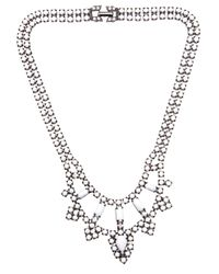 Tom Binns - White Two Tiered Crystal Necklace - Lyst