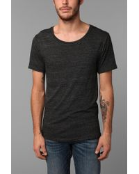 BDG | Black Triblend Wide-Neck Tee for Men | Lyst