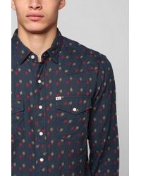 Urban Outfitters - Blue Salt Valley Lawrence Dobby Western Shirt for Men - Lyst