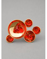 Atelier Swarovski | Red Double Ring | Lyst