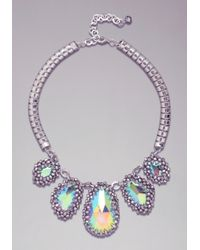 Bebe | Purple Stone Statement Necklace | Lyst