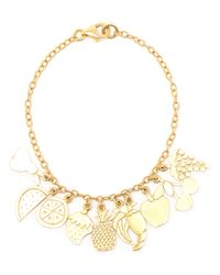 Carolina Bucci | Metallic 18k Yellow Gold Charm Bracelet | Lyst