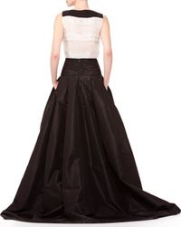 Carolina Herrera - Black Sleeveless Tiered Bow Top - Lyst