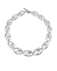 Ippolita | Metallic Sterling Silver Amoeba Link Necklace | Lyst