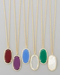 Kendra Scott - Red Danielle Birthstone Necklace - Lyst