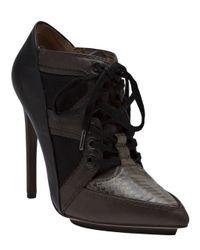 L.A.M.B. - Black Ankle Boot Pump - Lyst