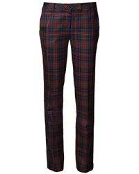 L.A.M.B. - Multicolor Plaid Print Trouser - Lyst
